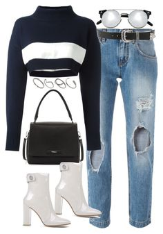 A fashion look from April 2016 featuring white turtleneck, zipper jeans and white boots. Browse and shop related looks. Kpop Fashion Outfits, Hipster Outfits, Edgy Outfits, Cute Casual Outfits, Retro Outfits, Outing Outfit, Polyvore Outfits, Polyvore Fashion, Teenager Outfits