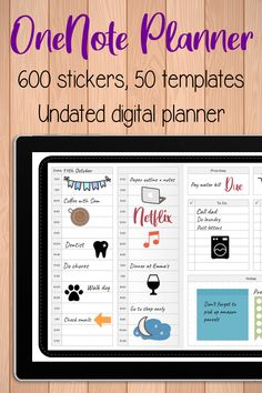 Onenote Template, Planner Template, Schedule Templates, Take Notes App, Good Notes, One Note Microsoft, Microsoft Excel, Education Templates, Planner Dividers