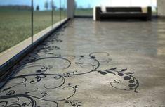 Outdoor Concrete Paint Epoxy Paint For Outdoor Concrete Patio Concrete Floor Paint Colors, Painted Concrete Floors, Painting Concrete, Stamped Concrete, Floor Colors, Concrete Patio, Concrete Wall, Stain Concrete, Decorative Concrete