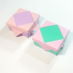 Some masu boxes (variations)  #origami #origamibox #box #crafts #paper…