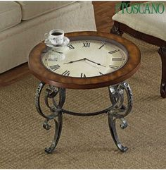 "Clock coffee table...""Tea Time"""