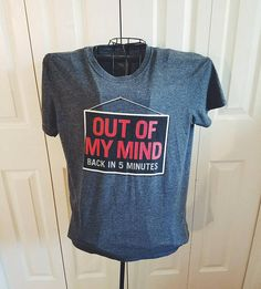 heather grey out of my mind sign unisex tee shirt