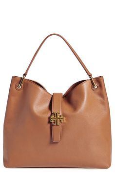 In black! Tory Burch 'Plaque' Hobo available at #Nordstrom