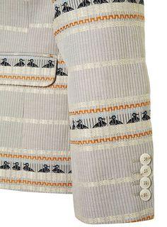 Duck pattern suit.