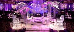 The James Bond themed ice bar was part of the hotel and casino's VIP dinner provided for high rollers to enjoy an exciting evening of food and entertainment while ringing in the new year.
