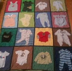 Baby cloths quilt.  My husband wants me to do something like this for our kids so I gotta start studying for this project.