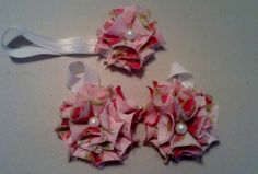 Pink, Pearl Headband and Barefoot Baby Sandals