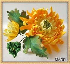 """Броши ручной работы. Ярмарка Мастеров - ручная работа Цветы из фоамирана """"Брошки"""". Handmade."""