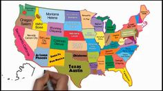The 50 States and Capitals Song 3rd Grade Social Studies, Social Studies Activities, Teaching Social Studies, Teaching History, Teaching Kids, Kid Activities, Teaching Tools, Us Geography, Geography Lessons