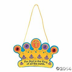 God Is the King of All Sign Crown Craft Kit - Discontinued Bible School Crafts, Bible Crafts For Kids, Vbs Crafts, Church Crafts, Sunday School Crafts, Decor Crafts, Christmas Activities, Craft Activities, Activity Ideas