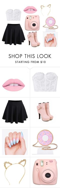"""Sprinkle of Pink"" by infinite-xoxo on Polyvore featuring WithChic, Nila Anthony, BCBGMAXAZRIA and Fujifilm"