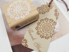 Lace Stamp - Wooden Rubber Stamp - Rubber Stamp - Roundness by mieryaw on Etsy https://www.etsy.com/listing/121608237/lace-stamp-wooden-rubber-stamp-rubber