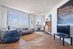 Picture of the Living room in the apartment in rental in Front Maritim Atico Poble Nou #apartments #barcelona