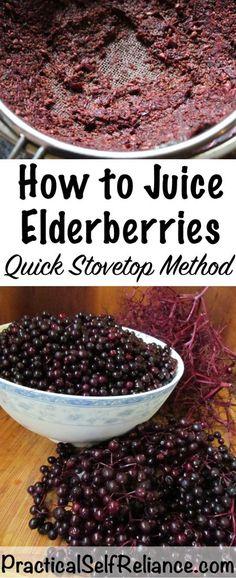c19fdc9e7d2f How to Juice Elderberries - Stovetop Method
