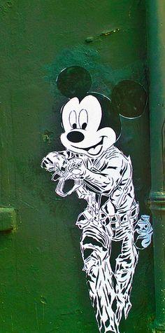 Mickey Mouse Street Art (Dublin)