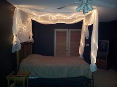 DIY Bed Light Canopy