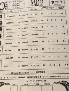 MGM Jai Alai Program 1977 Season Las Vegas | eBay