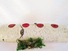 Birch Log Candle Holder Wood Candle Holder by DivineRusticCreation, $25.00 Birch Logs, Wood Candle Holders, Rustic Wedding, Wedding Decorations, Wreaths, Candles, Unique Jewelry, Handmade Gifts, Fun