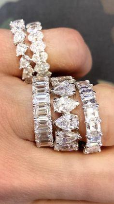 Eternity Ring Diamond, Diamond Rings, Eternity Rings, Diamond Necklaces, Gems Jewelry, Jewelry Art, Jewelry Accessories, Cute Rings, Anniversary Bands