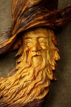 Image result for wizard wood carving