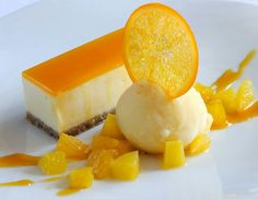 Passion fruit and white chocolate cheese cake