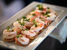 Ginger Poached Prawn Canapes