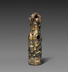 China, Henan province, Jincun, Warring States period (475-221 BC), bronze inlaid with gold and silver, Overall: h. 13.1 cm (5 1/8 in). Purchase from the J. H. Wade Fund 1930.730