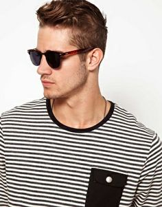 ASOS Clubmaster Sunglasses With Black Lens