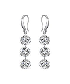 Look what I found on #zulily! Swarovski® Crystal & White Gold Drill Drop Earrings #zulilyfinds
