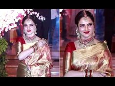 VETERAN Rekha At Shaina Nath's Daughter's Wedding Reception. Gossip, Wedding Reception, Interview, Daughter, Photoshoot, Music, Youtube, Fashion, Marriage Reception