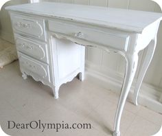 Antique Shabby Chic Desk *For Sale in Oahu* Antique Shabby Chic Desk | desk | antique| refinished furniture| shabby chicfurniture | restoration | marble | distressed | dark wax