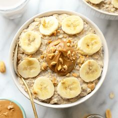 These peanut butter banana overnight oats combine all of your favorite flavors to make the most delicious, high-protein breakfast made in under 5 minutes! Peanut Butter Overnight Oats, Banana Overnight Oats, Peanut Butter Banana, Peanut Butter Breakfast, Banana Oats, Vegetarian Recipes Easy, Healthy Recipes, Healthy Breakfasts, High Protein Breakfast