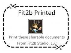 Fit2B Printed out.  You'll find a Letter excusing your child from crunches, educate a professional about diastasis, Exercises for Everywhere and a Weekly Workout Sheet!  Fit2B.com