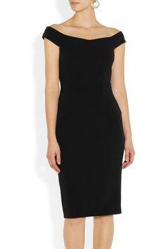 Gucci | Off-the-shoulder stretch-cady sheath dress | NET-A-PORTER.COM
