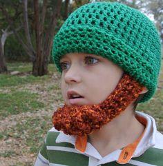 Irish Leprechaun Beard Hat Child Baby Beanie  by SimplyCollectible, $38.00