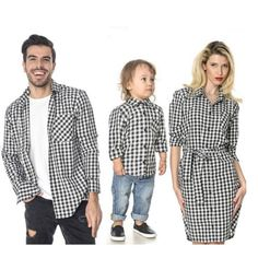 c9937bf3c40c Trendy Plaid Print Family Matching Clothing Sets