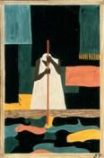 """""""Jacob Lawrence's Migration Series: Removing the Mask"""" lesson plan: Students in grades 6-8 analyze and compare visual and poetic works by Jacob Lawrence, Helene Johnson, and Paul Laurence Dunbar and consider how they represent changing roles of African Americans."""