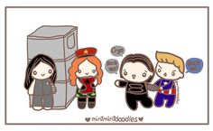 Based on Sebastian Stan's reaction to fans' cosplay :)   http://mintmintdoodles.tumblr.com/post/145450732607