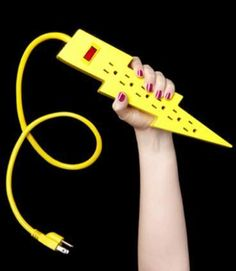 Lightning Bolt Power Strip - amongst the many nerdly stocking stuffers that'd bring a gleam to your favorite geek's eye!
