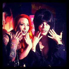 Megan Massacre and the wonderful Elvira! Megan is my DREAM TATTOO ARTIST!! Someday....