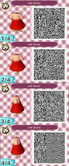 Animal Crossing red dress #animalcrossing #qrcodes #dress