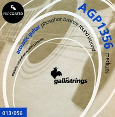 AGP 1356 medium .013-.017-.026-.035-.045-.056  ProCoated Phosphor Bronze It's our passion for strings, lasting for generation, together with the best technology available, which makes Galli ProCoated strings the most outstanding product in our catalogue.