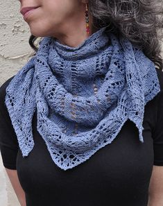 Free Pattern: Blue Jeans and Moon Beams Shawl by Myra Wood