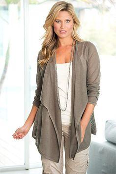 Women's Clothes Brands - Capture Longline Drapey Cardigan