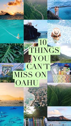 10 Things You Can't Miss While Visiting Oahu, Hawaii