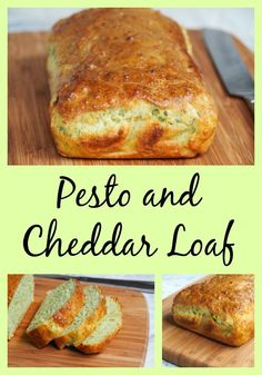 Pesto and Cheddar Loaf bimby - The Annoyed Thyroid Lunch Box Recipes, Lunch Snacks, Brunch Recipes, Kid Lunches, Lunchbox Ideas, Pesto Cheese Bread, Healthy School Lunches, School Snacks, Thermomix Bread