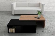 Table basse carrée, ronde ou rectangulaire au meilleur prix, TemaHome JAZZ table basse extensible en bois   Inside75