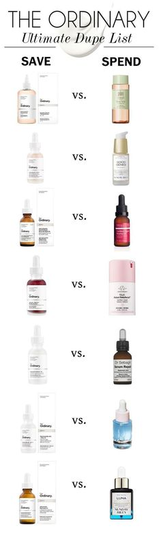 The-Ordinary-Dupe-List skincare dupes The-Ordinary-Dupe-List Hautpflege-Dupes Makeup And Beauty Blog, Beauty Hacks, Beauty Tips, Beauty Quotes, Skin Tips, Skin Care Tips, Skin Secrets, Best Skin Care Routine, Anti Aging Skin Care