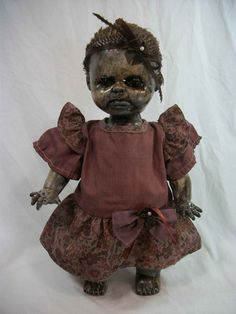 Creepy Zombie Doll Baby Cakes One of A Kind Altered by Lorcheenas, $69.95