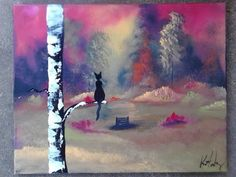 This 20 x 16 inch painting is an original painted on stretched canvas including sides, wooden edges makes this painting ready to hang or easy to frame.